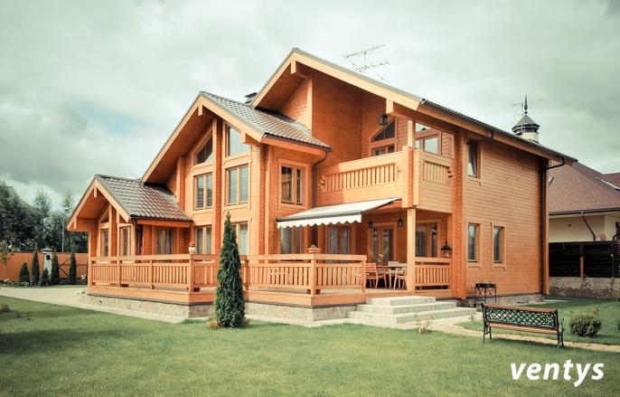Провести вентиляцию в деревянном доме